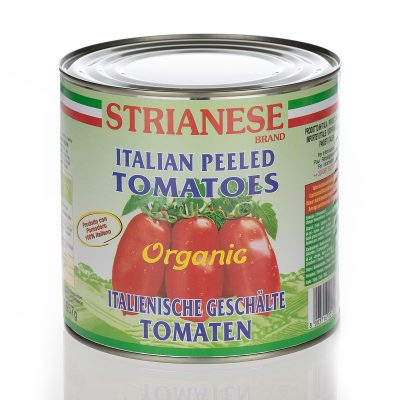 Organic whole pelled tomatoes